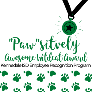 Paw print and award medal